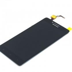 Lenovo A6000 - LCD displej + dotyková vrstva, dotykové sklo, dotyková doska - Čierna