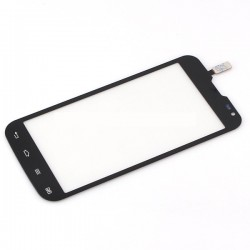 LG L90 D410 - Černá dotyková vrstva, dotykové sklo, dotyková deska + flex - OEM