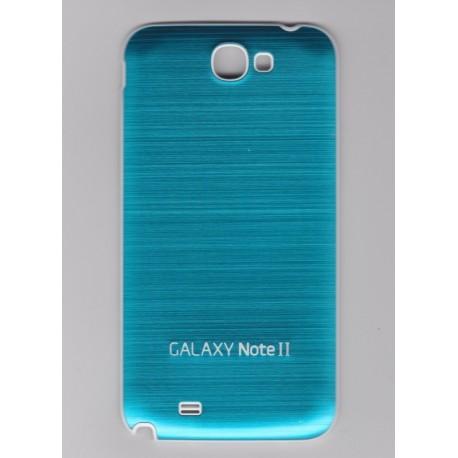 Samsung Galaxy Note 2 N7100 - Zadní kryt baterie - Hliník - Světle modrá / bílá