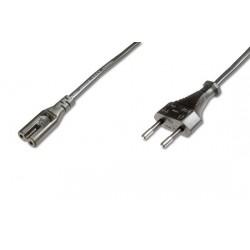 Napájací kábel pre notebooky 2-pólový, dĺžka 1,8m
