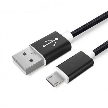 Datový a napájecí kabel Micro USB - měď, nylon