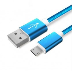 Data and power cable Micro USB - copper, nylon