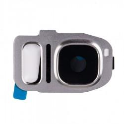 Samsung Galaxy S7 G930A G930F S7 Edge G935 - Kryt, sklo kamery, fotoaparátu, Barva: Stříbrná