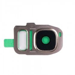 Samsung Galaxy S7 G930A G930F S7 Edge G935 - Kryt, sklo kamery, fotoaparátu, Barva: Zlatá