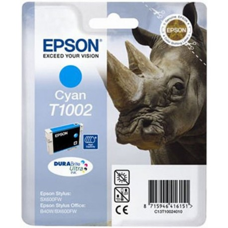 Epson T1002 - modrá- originální cartridge