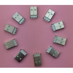 USB 2.0 Type A 4 Pin Male Plug Connector G48