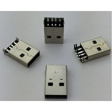 USB 2.0 Type A 4 Pin Male Plug Connector SMT G49