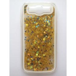 Přesýpací zadní kryt telefonu Samsung Galaxy S3 i9300 - Zlatá/modrá