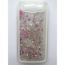 Přesýpací zadní kryt telefonu Samsung Galaxy S3 i9300 - Stříbrná/růžová