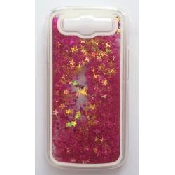 Přesýpací zadní kryt telefonu Samsung Galaxy S3 i9300 - Růžová/zlatá