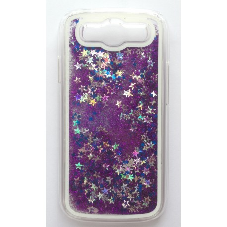 Hourglass back cover of your Samsung Galaxy S3 i9300 - Purple / silver / blue