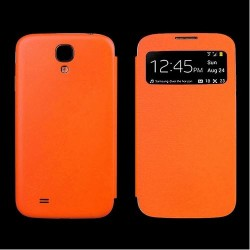 Flip S-View Samsung Galaxy S4 Mini i9190 - Orange