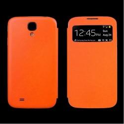 Flip S-View Samsung Galaxy S4 Mini i9190 - Oranžová