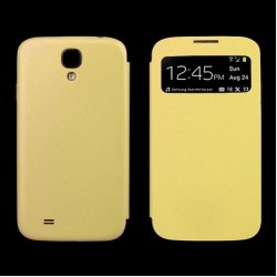 Flip S-View Samsung Galaxy S4 Mini i9190 - Žlutá
