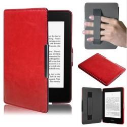 Kindle Paperwhite 5 - červené pouzdro na čtečku knih - magnetické - PU kůže - ultratenký pevný kryt