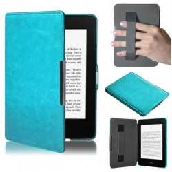 Kindle Paperwhite - blue holster reader of books - Magnetic - PU leather - an ultra-thin hard cover