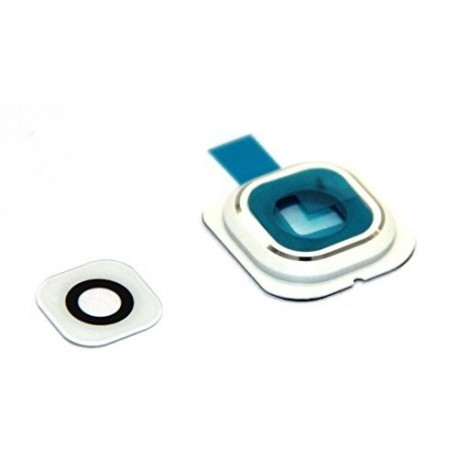 S6 Edge Samsung G925 G9250 - Cover, glass cameras, camera - White