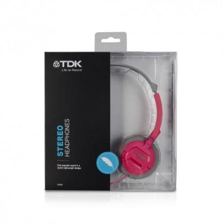 TDK ST100 headphones, pink