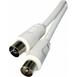 Anténní koaxiální kabel Emos 2,5m, bílý