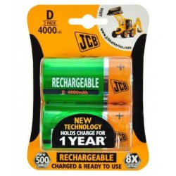 JCB batteries NiMH 4000mAh D 2 pieces - blister