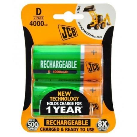 JCB batteries NiMH 4000mAh D 2 pieces - blister