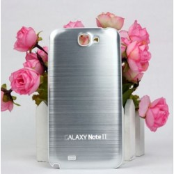 Samsung Galaxy Note 2 N7100 - Zadní kryt baterie - Hliník - Stříbrná / bílá