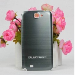 Samsung Galaxy Note 2 N7100 - Rear cover - Aluminium - Grey / white