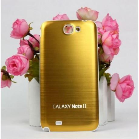 Samsung Galaxy Note 2 N7100 - Zadní kryt baterie - Hliník - Zlatá / bílá
