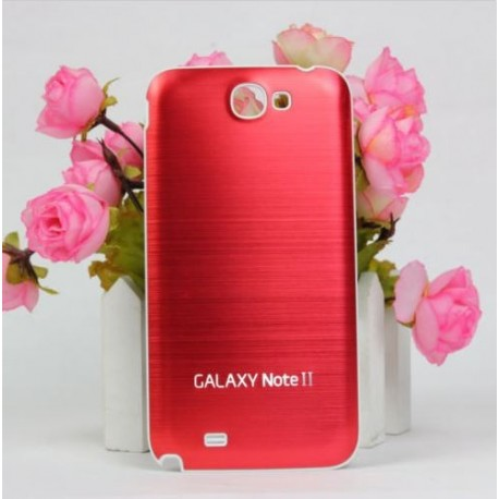 Samsung Galaxy Note 2 N7100 - Zadní kryt baterie - Hliník - Červená / bílá