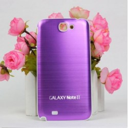 Samsung Galaxy Note 2 N7100 - Rear cover - Aluminium - Purple / white