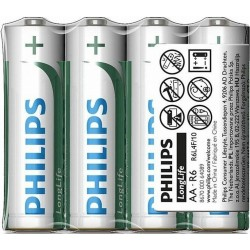 Philips LongLife batteries AA 1.5V - 4 pieces set