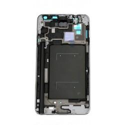 Housing Samsung Galaxy Note 3 N9005 - stříbrný střední díl (černý homebutton)