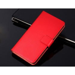 Housing Nokia Lumia 520 - red Leather
