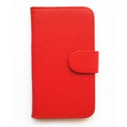 Púzdro Samsung Galaxy Express i8730 - červená koža