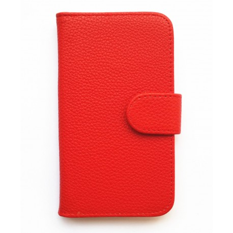 Housing Samsung Galaxy Express i8730 - red leather