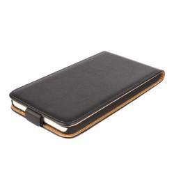 Housing Samsung Galaxy Express i8730 - black leather