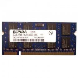 Operační paměť Elpida 2GB DDR2 2Rx8 PC2-6400S-666 800MHz EBE21UE8AFSA-8G-F