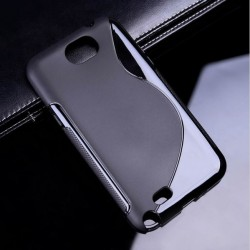 Silicone rear battery cover Samsung Galaxy Note 2 N7100 - Black
