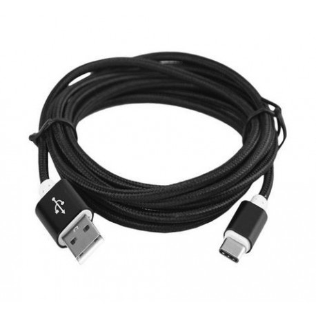 Data and power cable USB C (nylon) 0.2 m