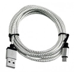 Data and power micro USB cable (Nylon) 0.2 m