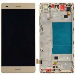 LCD displej + dotyková vrstva s rámečkem Huawei Ascend P8 Lite - Zlatá