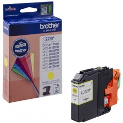 Brother originální cartridge LC-223Y, žlutá, 550str., Brother MFC-J4420DW, MFC-J4620DW