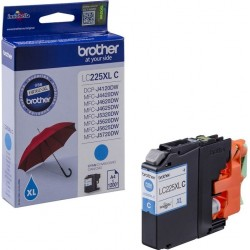 Brother originální cartridge LC-225XLC, modrá, 1200str., Brother MFC-J4420DW, MFC-J4620DW