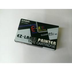 Casio XR-24x1, transp. / Biela, 24 mm - páska do štítkovača