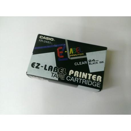 Casio XR-24X1 originální páska do tiskárny štítků, transp./černá, 24 mm