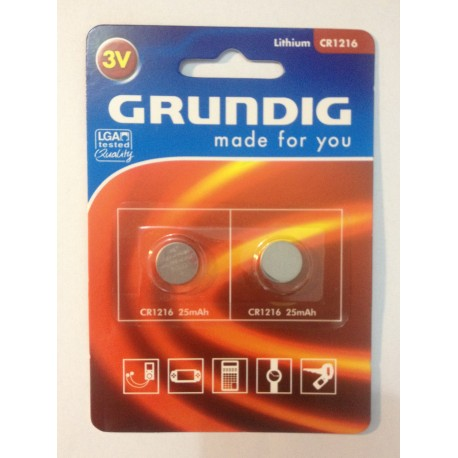 GRUNDIG Battery CR1216 25mAh - 2pc