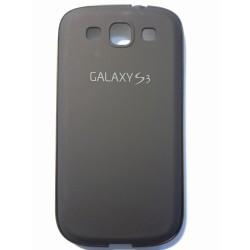 Samsung Galaxy S3 i9300 - Čierny zadný hliníkový kryt batérie s rámčekom