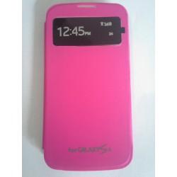 Samsung Galaxy S4 i9500 - růžový flip S-View