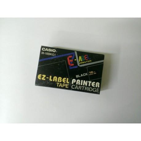 Casio IR-18BKG1 originální páska do tiskárny štítků - černý podklad / zlaté písmo, 18mm