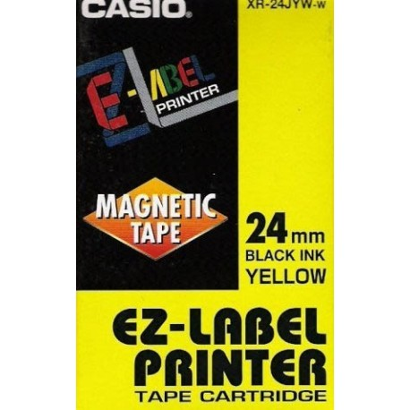 CASIO XR-24JYW-yellow base w / black lettering, 24 mm - the original tape to a label printer